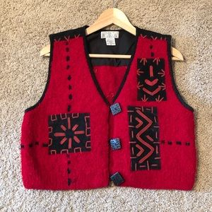 Red and Black Vest